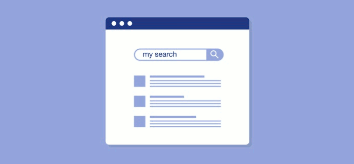 Illustration of a search box