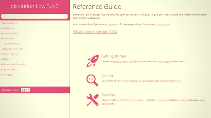 Online reference guide